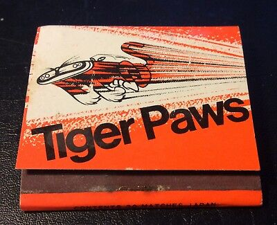 Tiger Paws Tyres Matchbook. Uniroyal Vintage Collectable