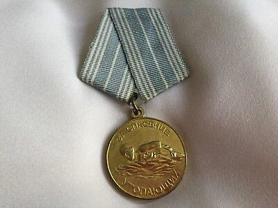 "USSR Medal ""For The Salvation Of The Drowning"" - Original, Excellent Condition"