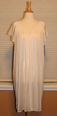 Vintage Barbizon Satin Nightgown Negligee Peignoir Ultra Silky & Feminine L NWT