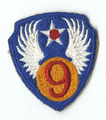 Wwii Original 9Th Air Force White Back Patch Africa Normandy France Europe
