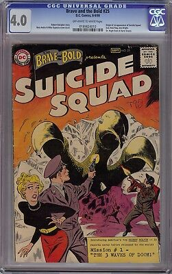Brave and the Bold #25 CGC 4.0 OW/White Origin & 1st Appearance of Suicide Squad