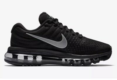 Nike Air Max 2017 Size 8 Black Anthracite Womens Running Shoes NEW 849560  001 ec1526b8d5e7