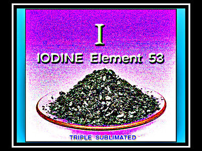 PURE IODINE ELEMENT 20gm 99.7%+ for FIRST AID & SURVIVAL KIT Potent Disinfectant