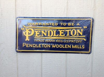 Pendleton Woolen Mills Store Display Advertising Sign  24 x 11.5 inches in mint