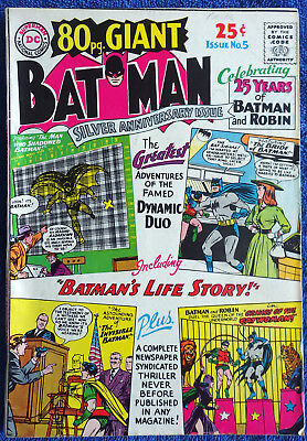 80 Page Giant #5 Batman Silver Anniversary Issue! 1964 Joker! Catwoman!
