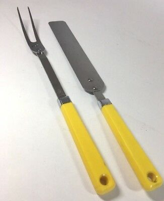 Vtg Maid Of Honor Cooking Kitchen Utensils Stainless Steel Yellow Handles USA