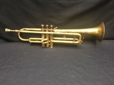 Antique Japanese Nikkan Tokyo Trumpet with Mouthpiece