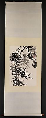 """CHINESE HANGING SCROLL ART Painting """"Bamboo""""  #E3455"""