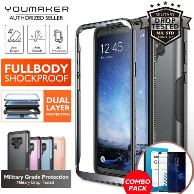YOUMAKER® Samsung Galaxy Note 9 HEAVY DUTY Shockproof Protective Case Cover