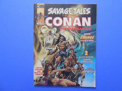 1974 Marvel Savage Tales Conan The Barbarian #4 Comic Magazine Neal Adams Vf