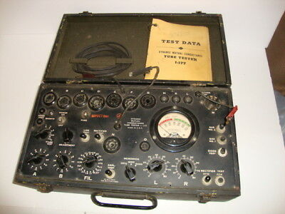 WW2 1-177 Mutual Conductance Military Tube Tester 1944