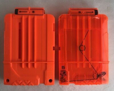 Lot of 2 Nerf N Strike Elite 6 Round Clip Cartridge Dart Ammo Magazine C-031G