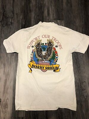 Vintage Las Vegas Casino Gold Coast Super Bowl 1991 Shirt Support Troops Size Lg