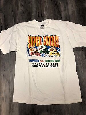 Las Vegas Casino Gold Coast Super Bowl 1998 Shirt Size Large Broncos Packers