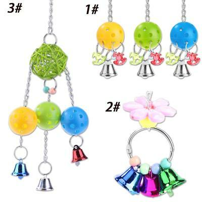 Home Living Pet Parrot Toys Plastic Ball Biting Chain Bird Hanging Toy Accessory