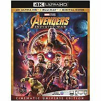 Avengers:infinity war bluray only or 4k only you choose(read description)