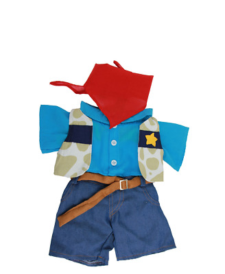 "Teddy Bear outfit. Fits Build a Bear and other brands 16"" teddy - Cowboy"