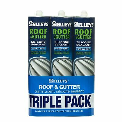 Selleys Roof & Gutter 310g Translucent Silicone - 3 Pack - AUSTRALIA BRAND