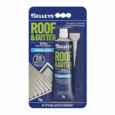 Selleys 75g Translucent Roof & Gutter Silicone - AUSTRALIA BRAND