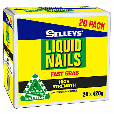 Selleys 420g Liquid Nails Fast Grab - 20 Pack - AUSTRALIA BRAND