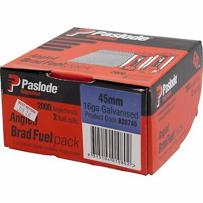Paslode 20° Galvanised Impulse Angle Brad With Fuel Cell - 2000 Pack - USA BRAND