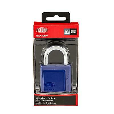 Lockwood 50mm Brass Padlock With Silicone Cover - AUSTRALIA BRAND