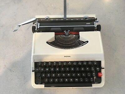 Vintage Royal 203 Portable Typewriter, Made In Japan, Good Condition, Works.