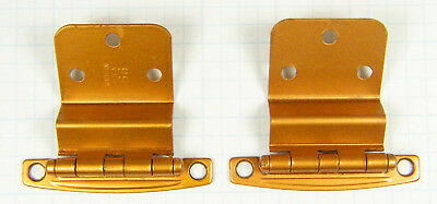 Two Vintage Matching Bronze Tone Cabinet Hinges