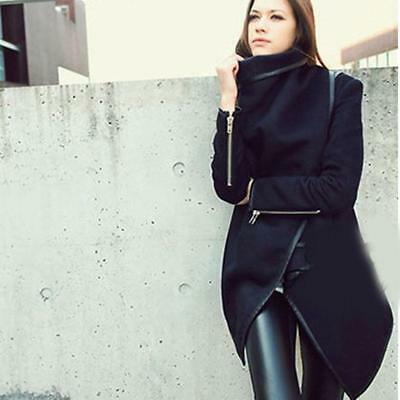 Women Autumn Irregular Casual Slim Jacket Overcoat Parka Coat Outwear B