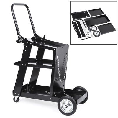 heavy 3 Tier Welding Cart Welder Trolley plasma cutter MIG TIG Storage Handle uk