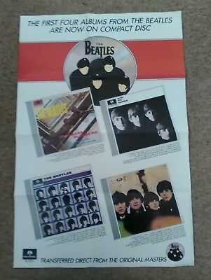 The Beatles. First Four Albums on Compact Disc Promo Poster (1987)