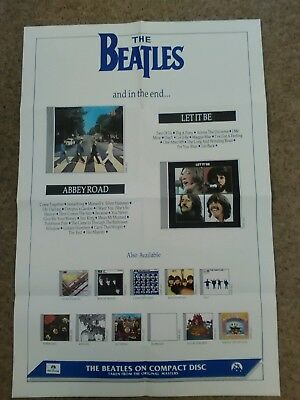 The Beatles. Promo Poster (c1988) to promote Abbey Rd / Let It Be CD releases.