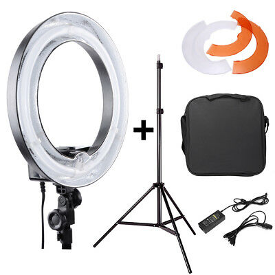 "14"" 45W Fluorescent Dimmable Ring Light w/Tripod Light Stand Kit For Video Photo"