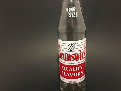 Vintage soda pop bottle Brunswick quality flavors king size