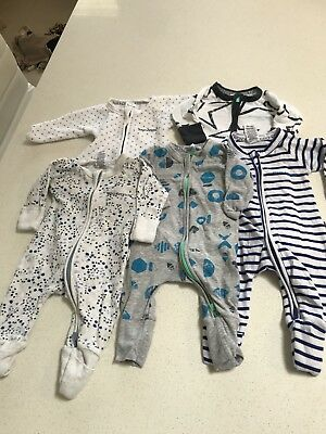 5 X BONDS Baby Wondersuit Bundle. Size 0000. Preloved.