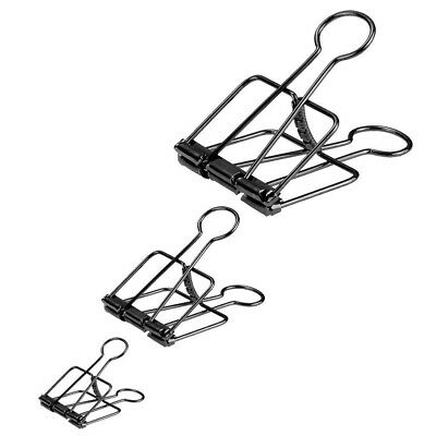 5PCS Hollow Metal Binder Clips Paper Photo Files Organizer Hanging Stationery FK