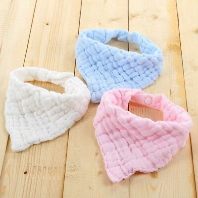 Cute Kid Baby Feeding Cotton Towel Bib Boy Girl Bandana Saliva Triangle Hot Sale