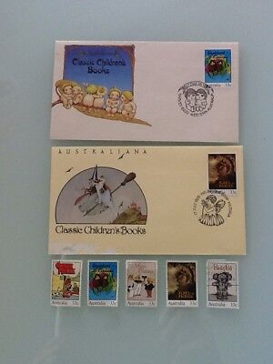 Australiana Classic Childrens Books 1985 Collectable Postage Envelopes And Stamp