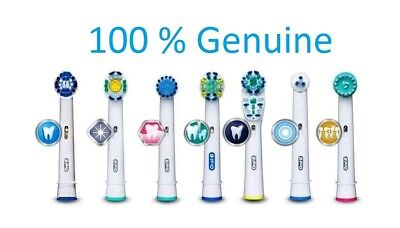 Genuine Braun Oral B Electric Toothbrush Replacement Brush Heads - UK Seller