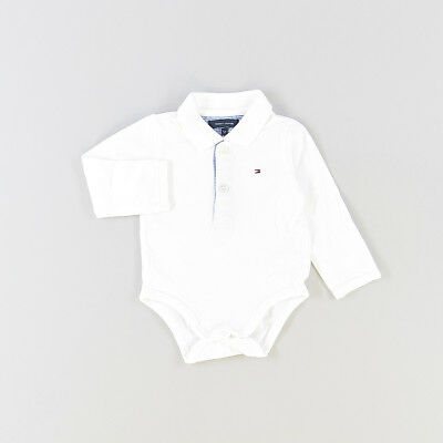 Polo body color Blanco marca Tommy Hilfiger 3 Meses  513097