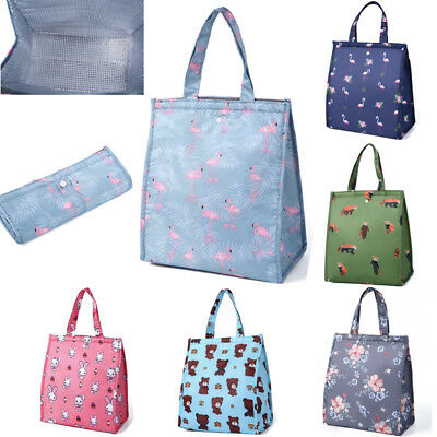 AU Women Portable Lunch Bag Insulated Thermal Cooler Box Carry Tote Travel Bag