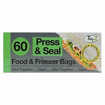Tidyz Press & Seal Food - Freezer Bags Pack Of 60. B0565