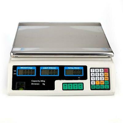 Digital Weight Price Scales 40kg 88lb Price Computing Supermarket 8 Unit Prices