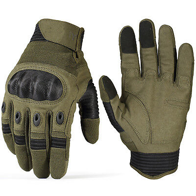 Cycling Motorcycle Combat Hard Knuckle Touchscreen Tactical Full Finger Gloves k