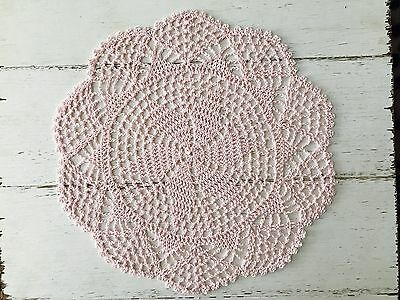 30 -32 Cm New Light Pink Crochet Lace Doily