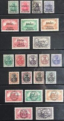 Germany 1920 Allenstein issues - Vote in East Prussia MLH & Used