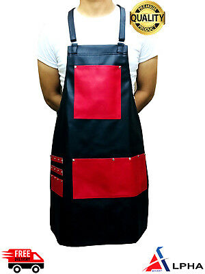 Rex Leather Salon Hairdressing Hair Cutting Apron Front-Back Cape for Barber New