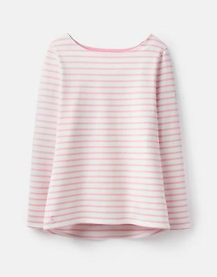 Joules 124820 Jersey Top Shirt in CREAM STRIPE