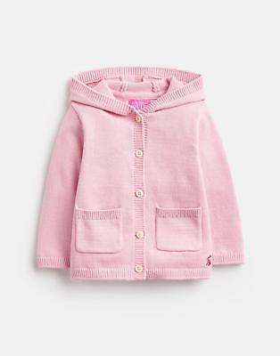 Joules 124944 Character Hooded Cardigan in ROSE PINK