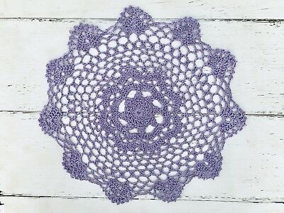 28 Cm New Purple Crochet Lace Doily